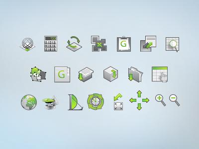 Icon Set2 icon work calculation geodesy folder arrow earth refresh switch upload antenna 32x32
