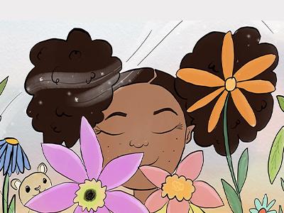 Pollen color illustration children