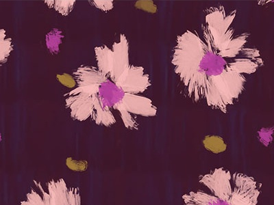Painted Flowers surface pattern print paint illustration pattern