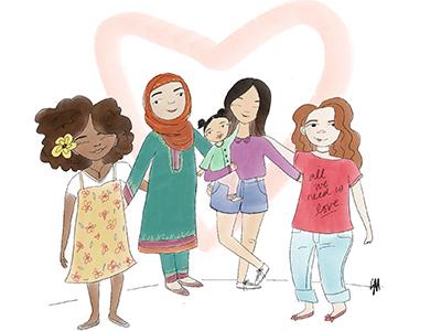All We Need children women illustration