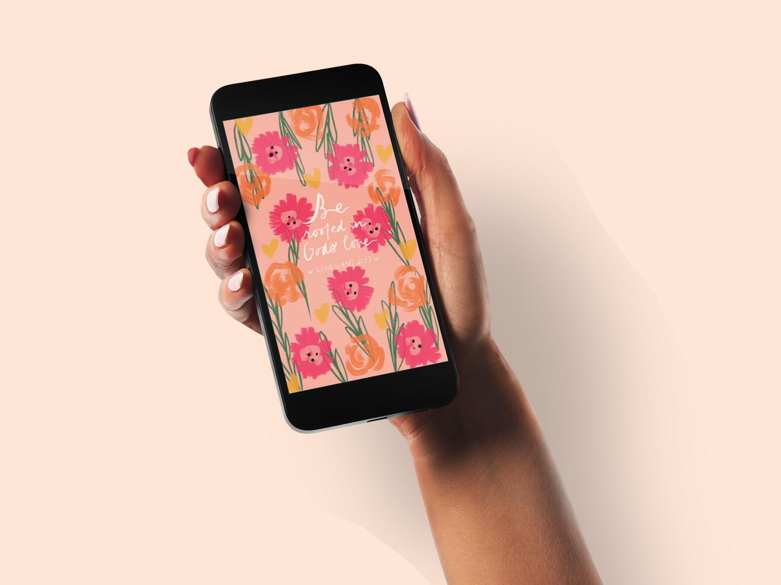 Wall Flower flowers digital pattern design illustration