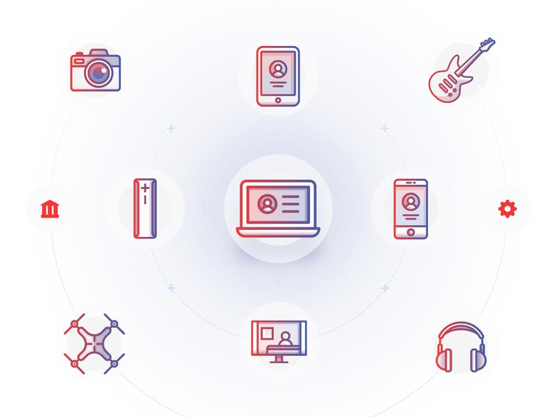 Flink - Education flow - Icon set illustrator adobe illustration gadgets icons