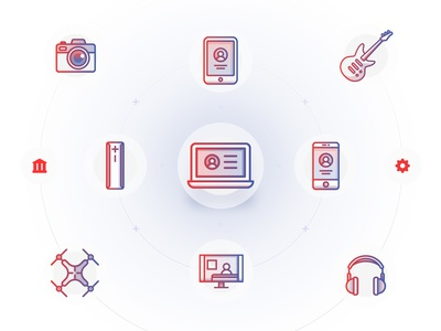 Flink - Education flow - Icon set