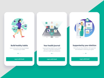 Onboarding screens froe Dietitian app