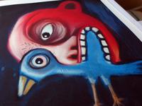 Red Head & Blue Bird