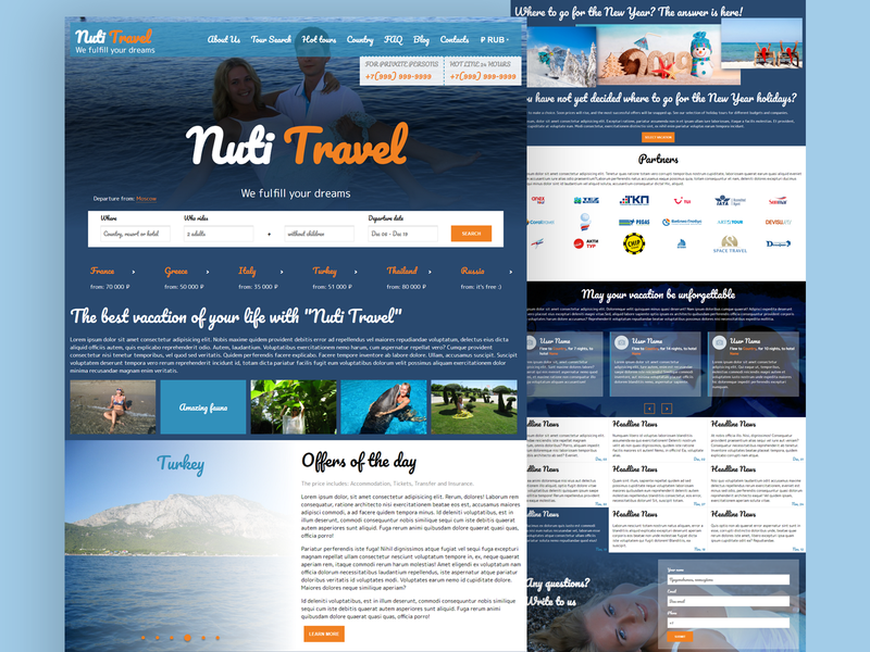 Website of Travel Company homepagedesign prototype startup product company business landing travel agency travel homepage design design