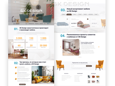 Homepage Design Concept home furniture website ux ui minimal landing page landing clean homepage