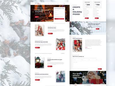 "Christmas agency ""Ho-Ho-Ho"" landing page landing concept clear design branding website uidesign ux ui design webdesign"