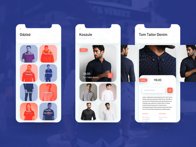 Design of a mobile app for clothing purchases zalando ux user experience ui shop pantone mockup mobile app mobile living coral iphone x iphone ideas design color of the year clothes application app 2019 trends 2019