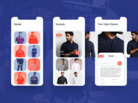 Design of a mobile app for clothing purchases