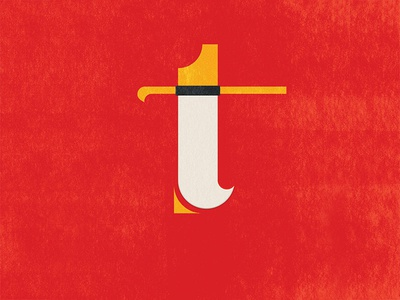 T as in Texas. t typography type 36daysoftype