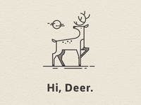 Deer illo for a card.