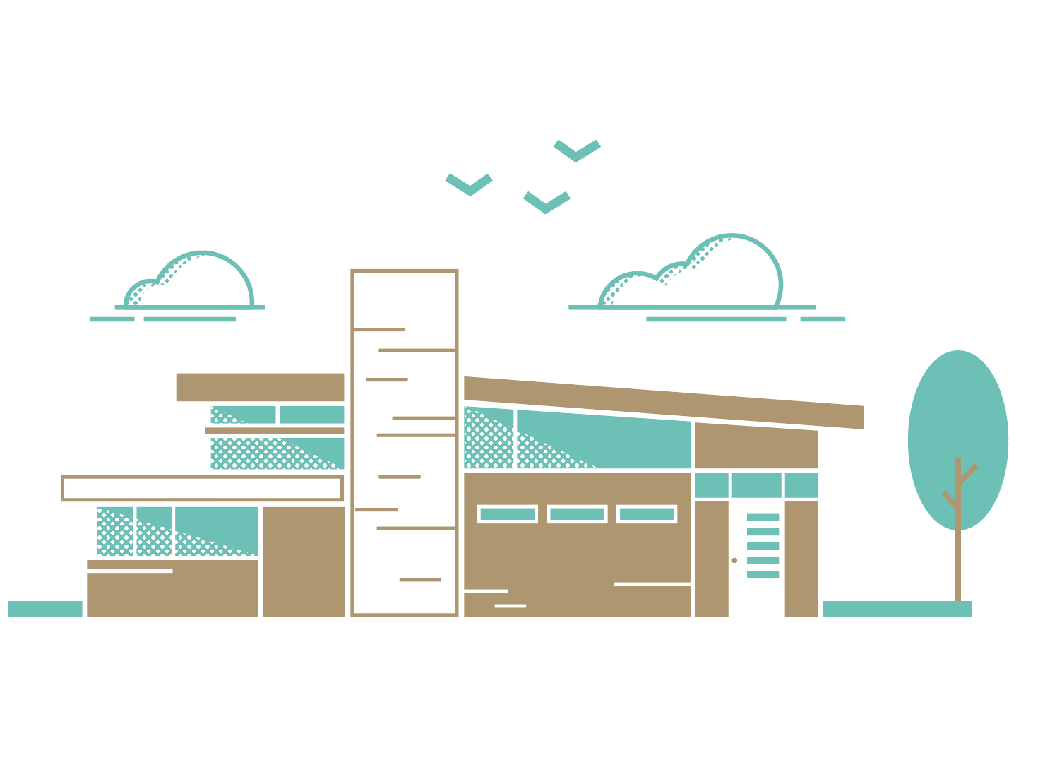Mid Century Home Illustration by Mike Tyer on Dribbble