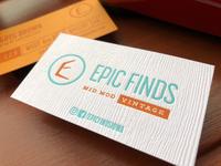 Letterpress mid mod business cards