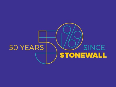 50 Years since Stonewall lettering lgbtq pride typography type