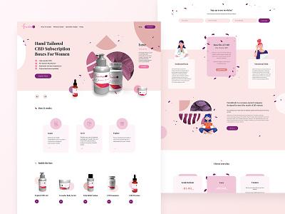 CBD Subscription Boxes For Women pink illustraion webdesigner simple ui minimal business cbd packaging subscription box subscription cbdoil cbd