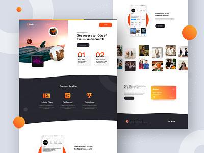Uniby Student Offers gradient web app web design responsive modern clean ui landing page business minimal premium student app discounts offers
