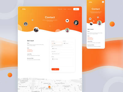 Contact Us & Contact Form marketing ui startup landing page contact page get in touch contact form contact contact us page contact us
