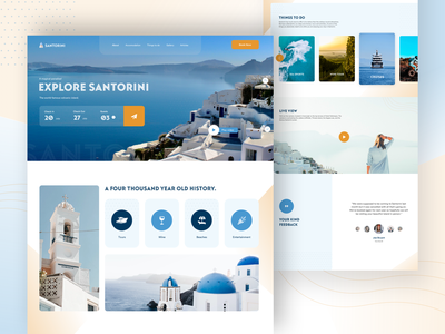 Travel Santorini - Trip & Travel Exploration holiday vacation hotel flight app destination booking travel website travel agent travel agency travel app trips travel traveling