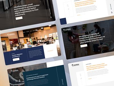 Clickficks - Digital Agency Website full screen web studio web agency studio design agency agency website agency design studio digital agency