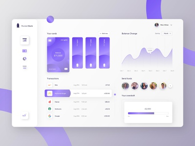 Fintech | Banking App Dashboard investment crypto currency exchange crypto wallet transaction mobile bank wallet payments app dashboad bank dashboard bank fintech app fintech
