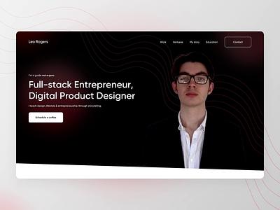 Personal Portfolio Website - Leo Rogers ui clean motion graphics landing page portfolio portfolio webstie personal brand personal website