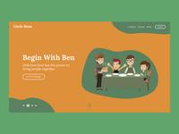 Uncle Bens Landing Page Concept