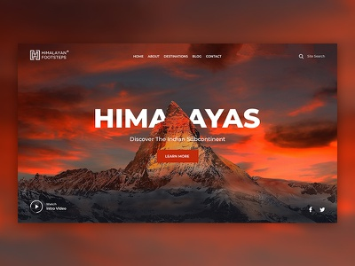 Himalayan Footsteps Concepts vector webdevelopment ui typography webdesigner minimal simple clean webdesign graphicdesign design business