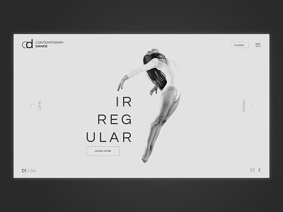 Contemporary Dance Concept ux logo illustration icon branding vector typography ui dark web flat simple minimal clean webdevelopment webdesigner webdesign graphicdesign design business