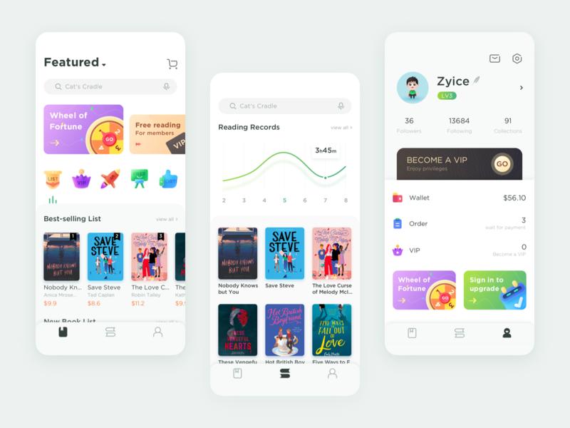 阅读应用程序 app icon ui typography 设计