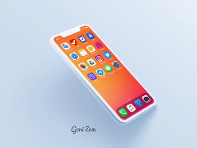 Orange gradient