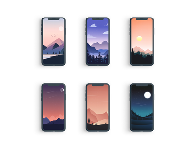 Landscape edition mockup ios wallpaper texture photoshop vector minimal iphone11promax iphone ipad illustrator illustration homescreen graphic drawing design colorful background apple