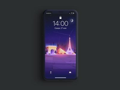 Paris mockup ios wallpaper texture photoshop vector minimal iphone11promax iphone ipad illustrator illustration homescreen graphic drawing design colorful background apple