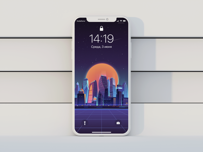 Cityscape mockup ios wallpaper texture photoshop vector minimal iphone11promax iphone ipad illustrator illustration homescreen graphic drawing design colorful background apple