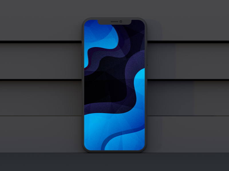 Blue abstract apple grunge lockscreen landscape background wallpapers vector design art illustration abstract