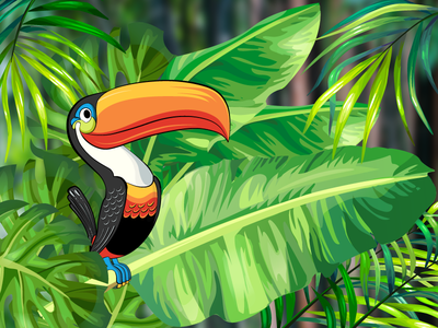 Guinness Toucans animal graphic tropical toucans vector illustration