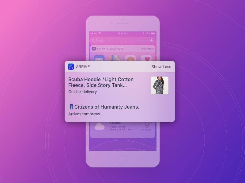 Arrive iOS Widget by Kelly Seay on Dribbble