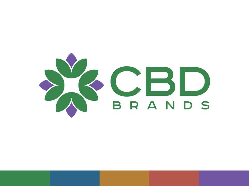 CBD Brands cbd flower colors logo