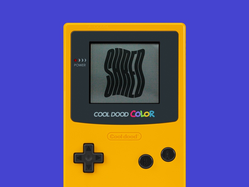 Cool dood® gameboy psd typography type design