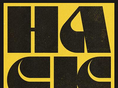 Hack design graphic logo typedesign typography