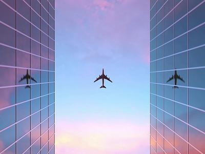 Airplane 3D Animation airplane 3d animation 3d design motion graphics animation 3d