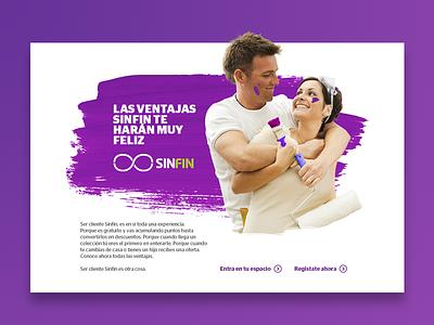 Aki SINFIN España website web ux ui marketing desktop design
