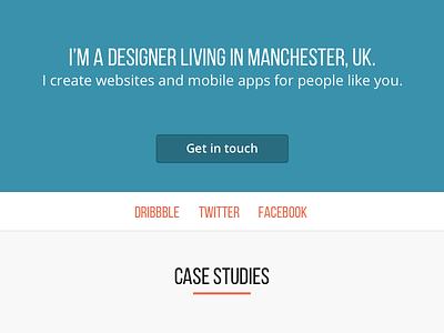 Header portfolio header homepage