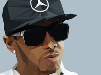 Low Poly Lewis Hamilton