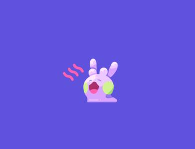Goomy green blob slime goomy red violet blue pokemon illustration vector minimal illustrator flat design clean art