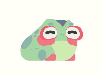 Froggo animal frog red green blue illustration vector minimal illustrator flat design clean art