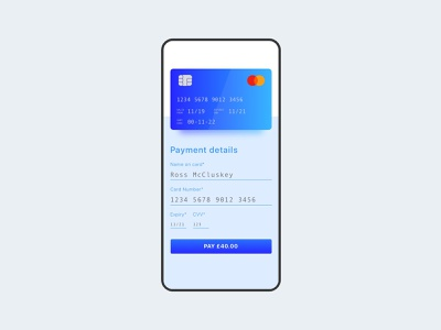 daily ui  credit card checkout ui mobile app
