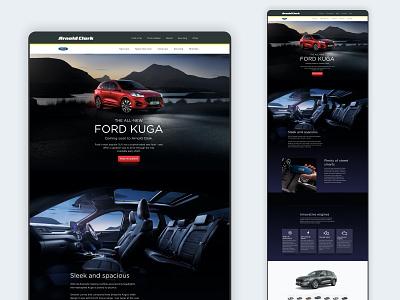 Ford Kuga Landing Page web design landing page