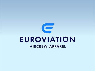 Euroviation Aircrew Apparel aviation branding logodesign logo