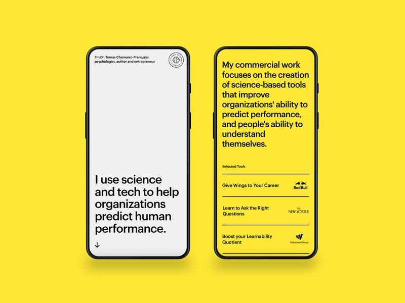 Bold typography UI mobile ui yelow psychologist ux mobile design app website ui typography minimal clean logo branding